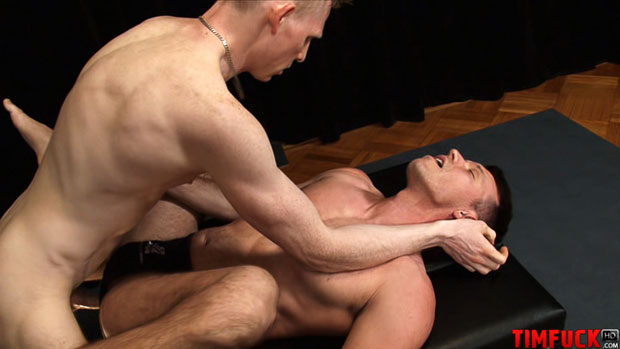 Watch Alex Kaine and Rob Yaeger have bareback sex at TIMFuck