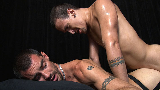 Watch Caedon and Dimitri have bareback sex at TIMFuck