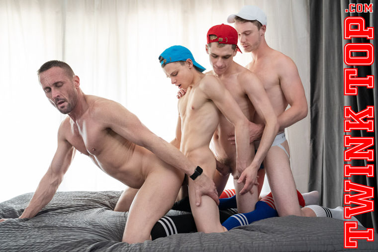 Austin L Young, Cole Blue, Marcus Ryan and Myles Landon - Twink Top