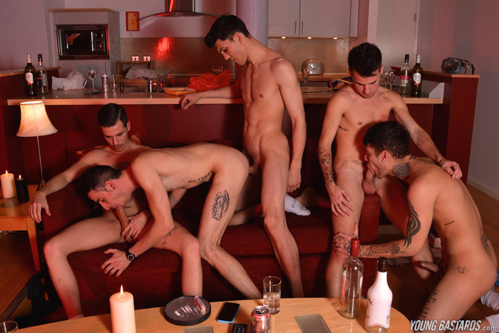 Mickey Taylor, Timmy Treasure, Izan Loren, Luke Tyler and Nathan Hope - Young Bastards