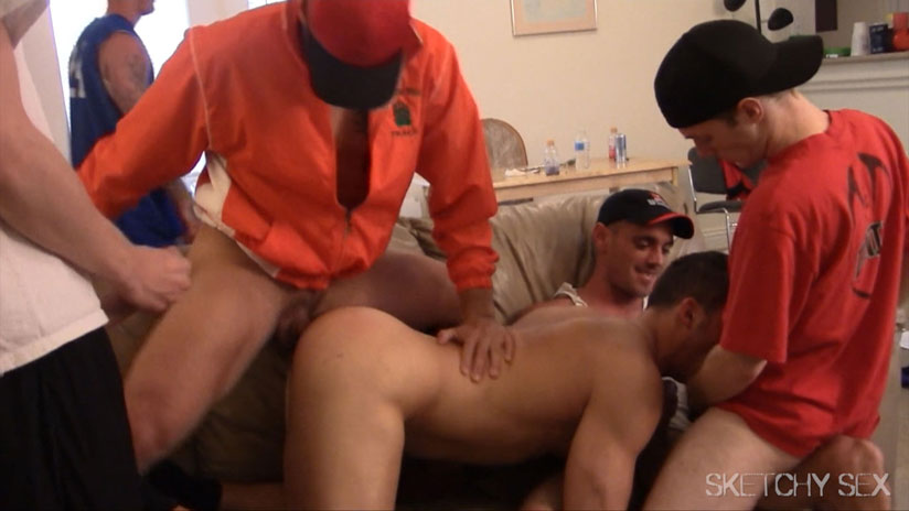 Cum Hungry Hunk gets Bred with Cum from a Stud Who Isn't Even Barebacking Him