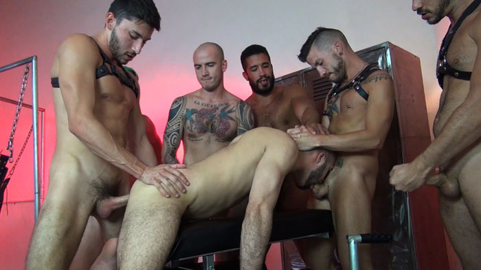 Raw Fuck Club Presents an Awesome Bareback Gangbang Filled with Loads of Cum