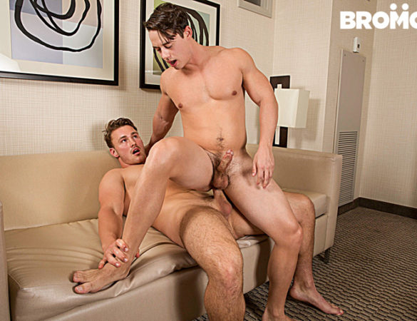 Tobias and Trevor Long in 'Bro In The Street, Ho In The Sheets' at Bromo
