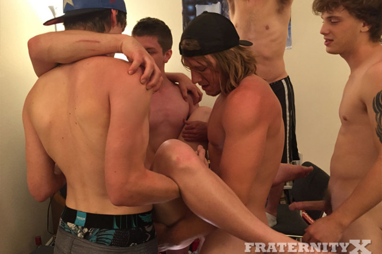 College Dude with an Erection gets Barebacked and Becomes a Cum-Filled Frat Boy
