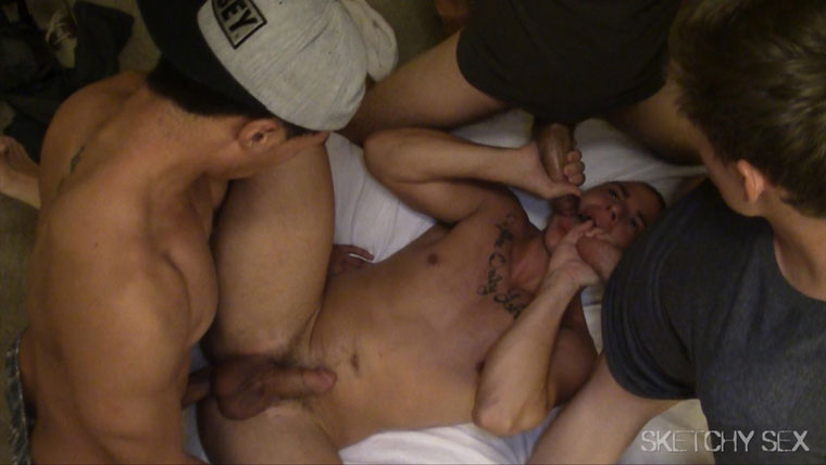 This Bunch of Horny Guys Love Having Bareback Sex and Guzzling Cum