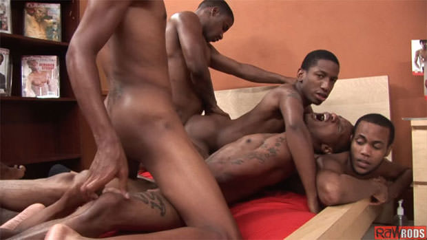 So Many Guys Barebacking in this Raw Rods Video Makes it Feel Like a Sex Party