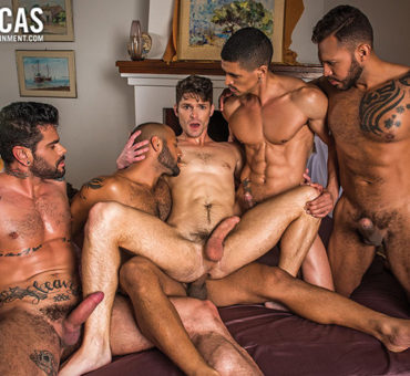 Watch Exciting Bareback Porn with Devin Franco's Raw Sex Gang Bang at Lucas Entertainment