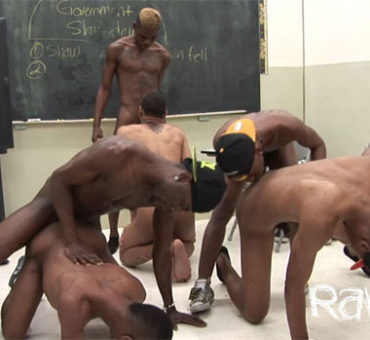 Six Horny Men Of Color Indulge in a Sizzling Bareback Sex Orgy