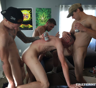 New College Frat Boy Takes Care of His Horny Frat Bros in Various Ways