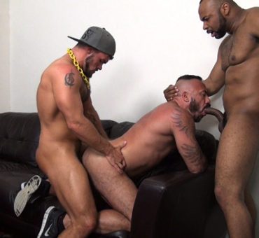 Three Horny Studs Enjoy Barebacking Together After a Hot Night of Dancing