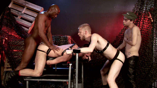 Second Installment of Gang Fucked by Dark Alley is Now Showing at Bareback Box