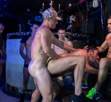 GoGo Gangbang from Dark Alley Media and Raw Fuck Club is Now Showing at Bareback Box