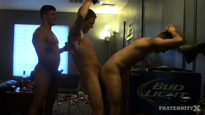 Beer Isn't the Only Fluid Flowing at the FraternityX Frat House