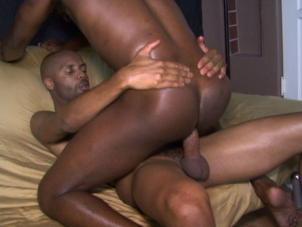 Two Horny Ebony Guys Enjoy Bareback Sex at Black Breeders