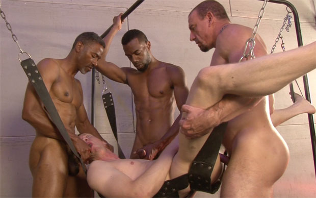 Blake Daniels Is Bound And Gangbang In Front