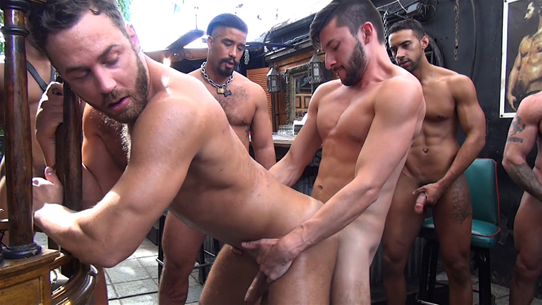 Owen Powers, Logan Moore, Sean Duran, Scott DeMarco, Trey Turner, Jay Alexander, Deviant Otter, Jace Chambers and Timarrie Baker - Raw Fuck Club