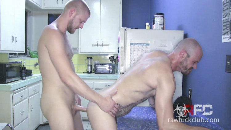 Midnight Thirst Results in a Satisfying Bareback Ass Filling Encounter for Two Horny Guys