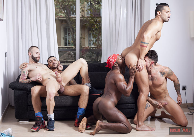 Group Bareback Sex Featuring Guys From Multiple Continents Provides Raw Connections