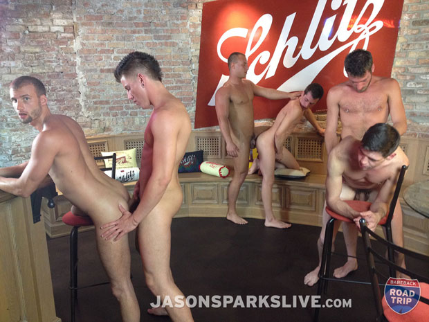 Jason Sparks Live Filmed a Six Stud Bareback Orgy in Milwaukee
