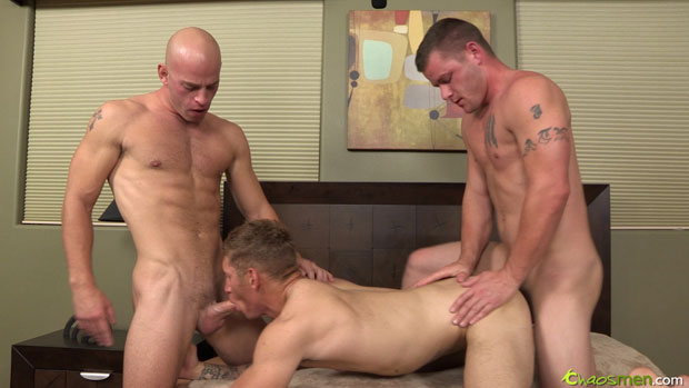 Change of Plan Leads to a Bareback Tag Team Fuck Featuring Sloppy Seconds