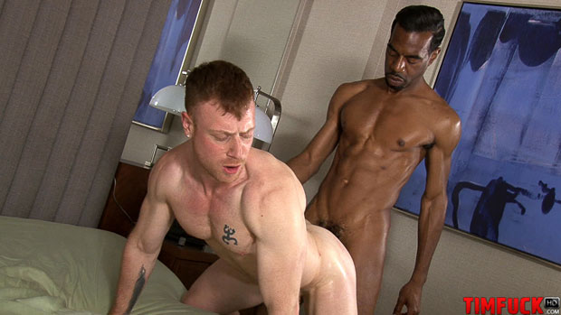 White Dude gets Barebacked by Three Black Guys and Filled with Cum