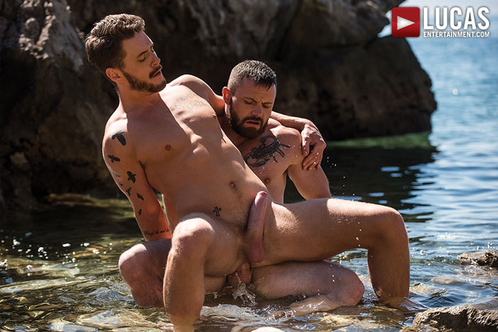 Exclusive Lucas Entertainment Model gets Barebacked Outdoors in the Ocean