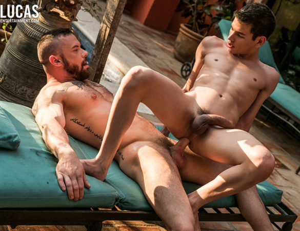 Sergeant Miles and Ricky Verez in 'Bareback Auditions 8: Fresh Additions' at Lucas Entertainment