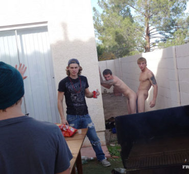 Fan of FraternityX Attends a BBQ and Takes Loads from Other Party Guests