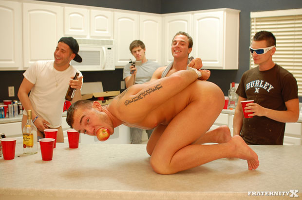 Enjoy a Delicious Feast of Bareback Ass Stuffing at the College Fraternity
