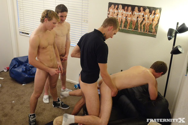 The Horny Guys at FraternityX Like the Concept of 24/7 Bareback Sex